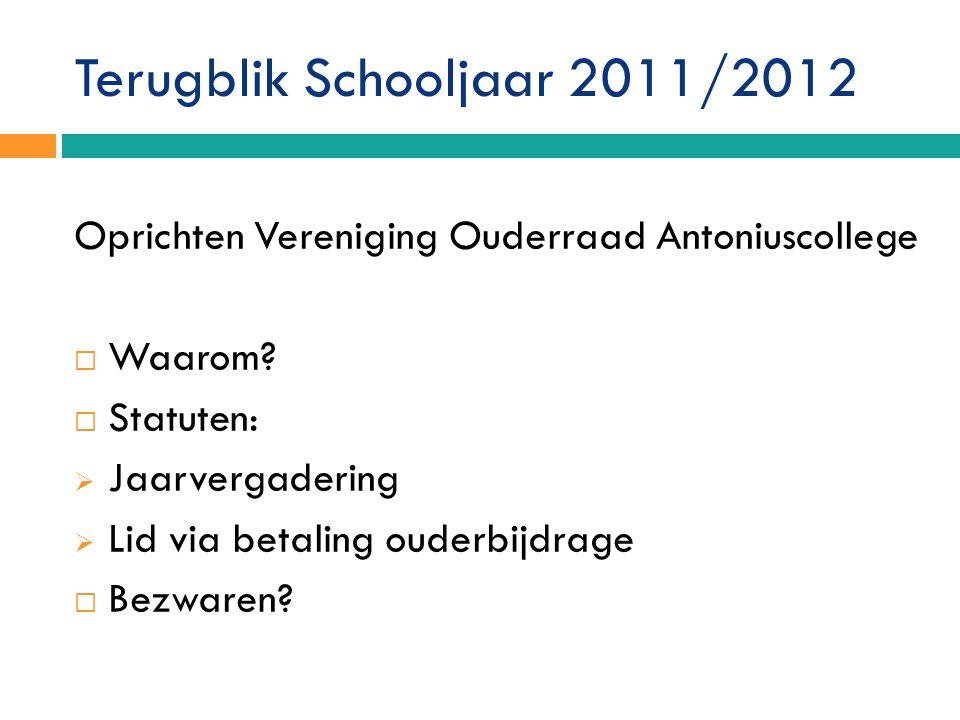 Terugblik Schooljaar 2011/2012