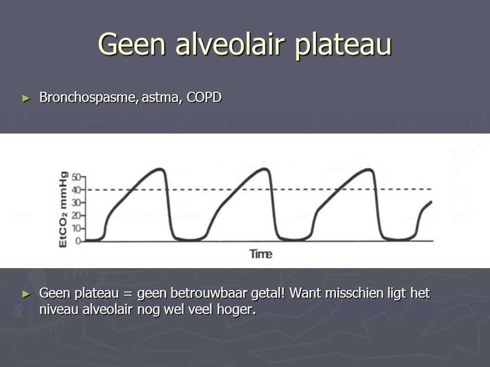 Geen alveolair plateau
