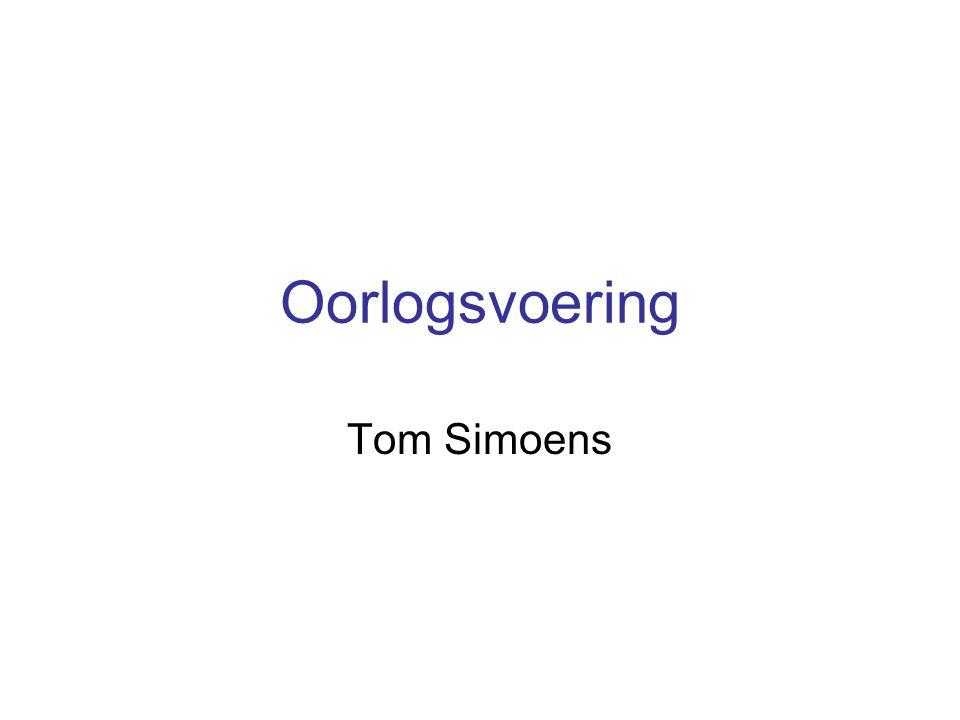Oorlogsvoering Tom Simoens