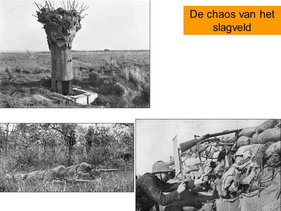 De chaos van het slagveld