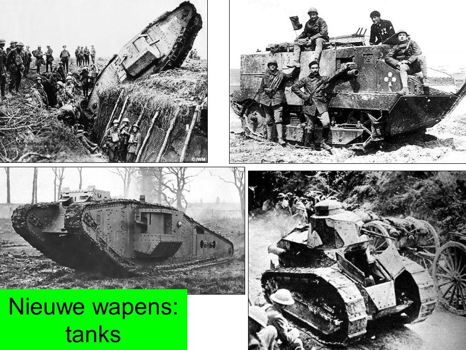 Nieuwe wapens: tanks