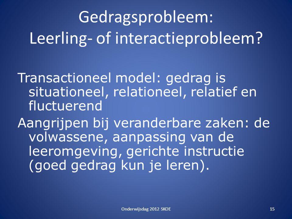 Gedragsprobleem: Leerling- of interactieprobleem
