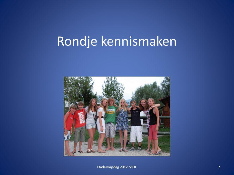 Rondje kennismaken Onderwijsdag 2012 SKOE