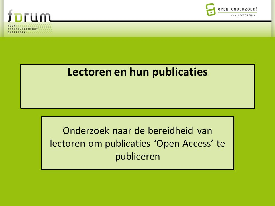 Lectoren en hun publicaties