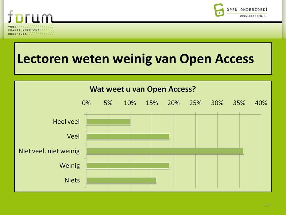 Lectoren weten weinig van Open Access