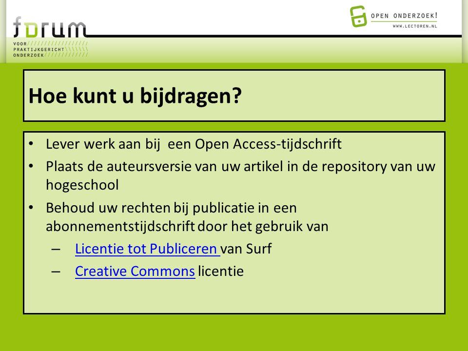 Hoe kunt u bijdragen Lever werk aan bij een Open Access-tijdschrift
