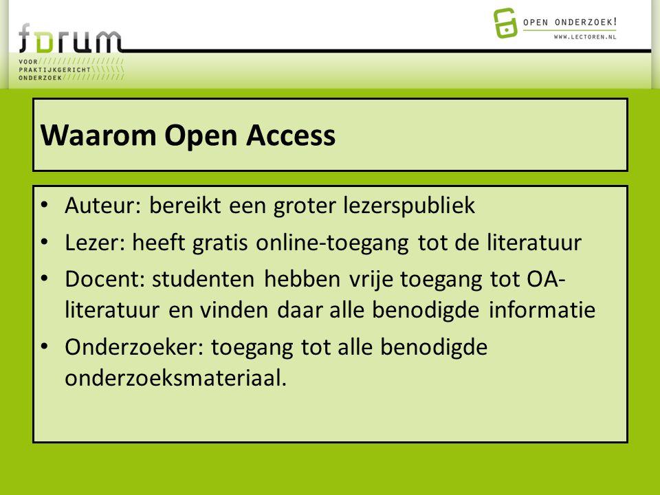 Waarom Open Access Auteur: bereikt een groter lezerspubliek