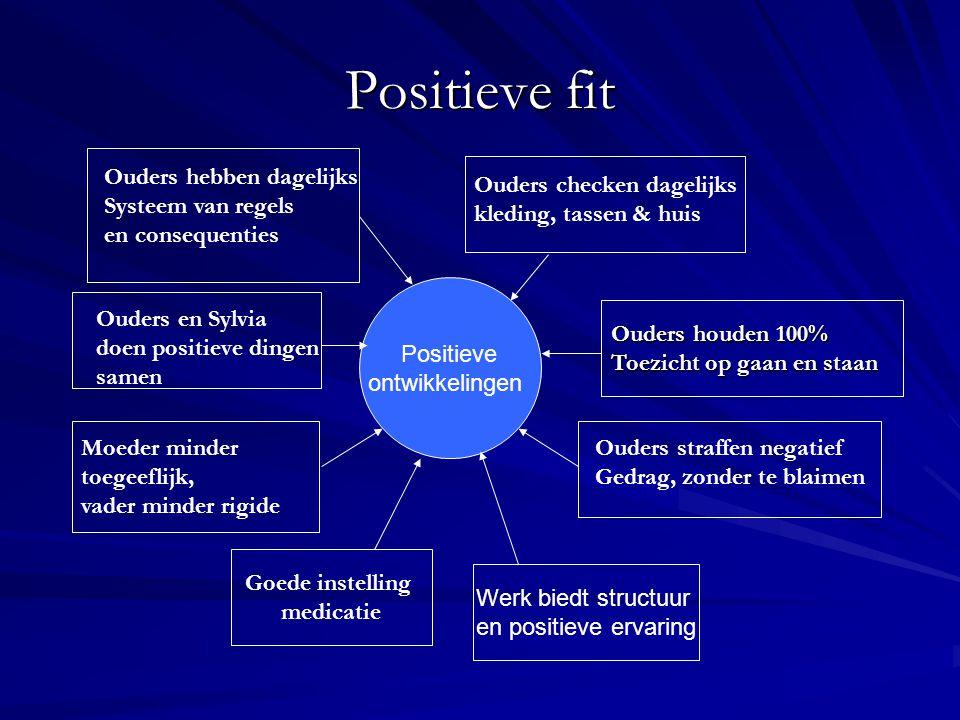 Positieve fit Ouders hebben dagelijks Systeem van regels
