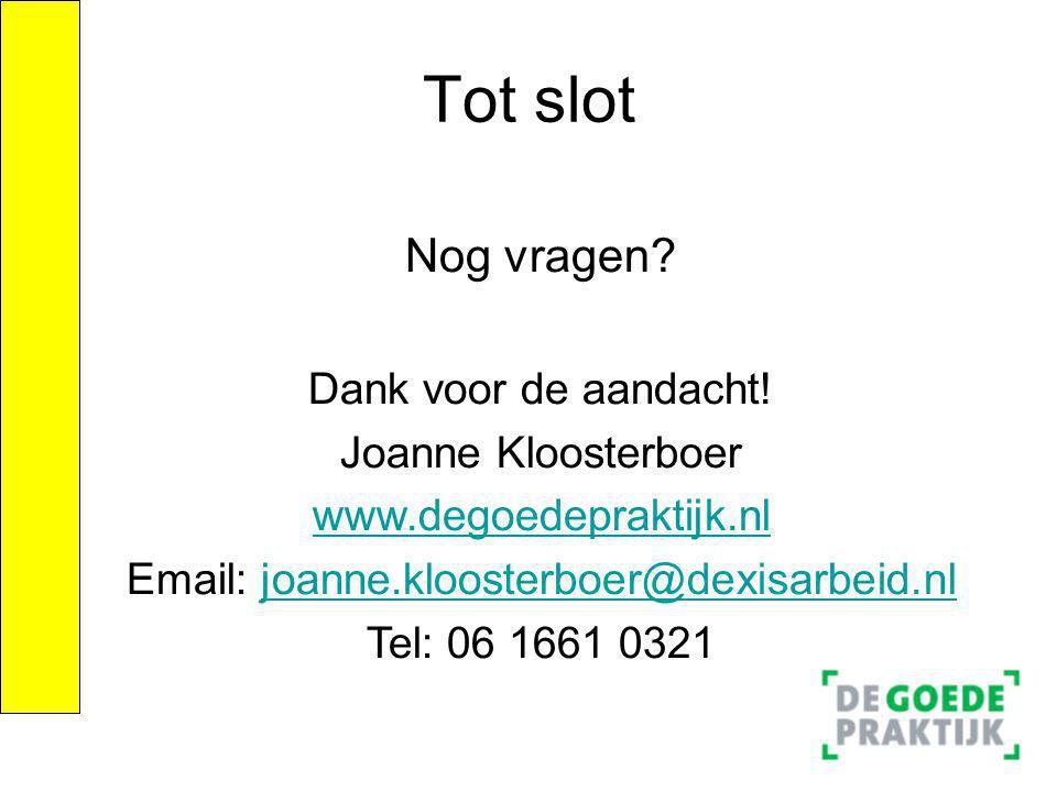 Email: joanne.kloosterboer@dexisarbeid.nl