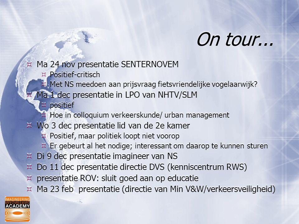 On tour... Ma 24 nov presentatie SENTERNOVEM