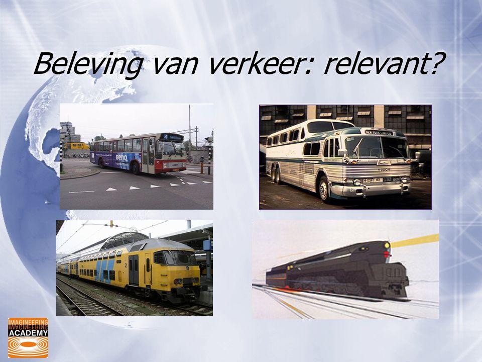 Beleving van verkeer: relevant