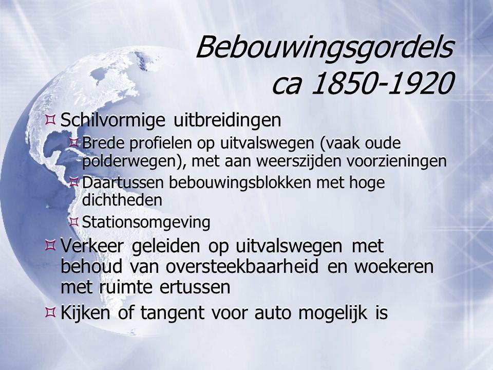 Bebouwingsgordels ca 1850-1920