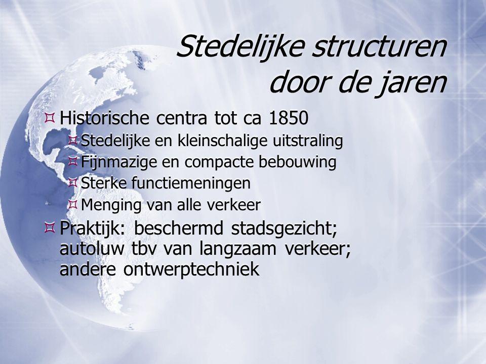 Stedelijke structuren door de jaren