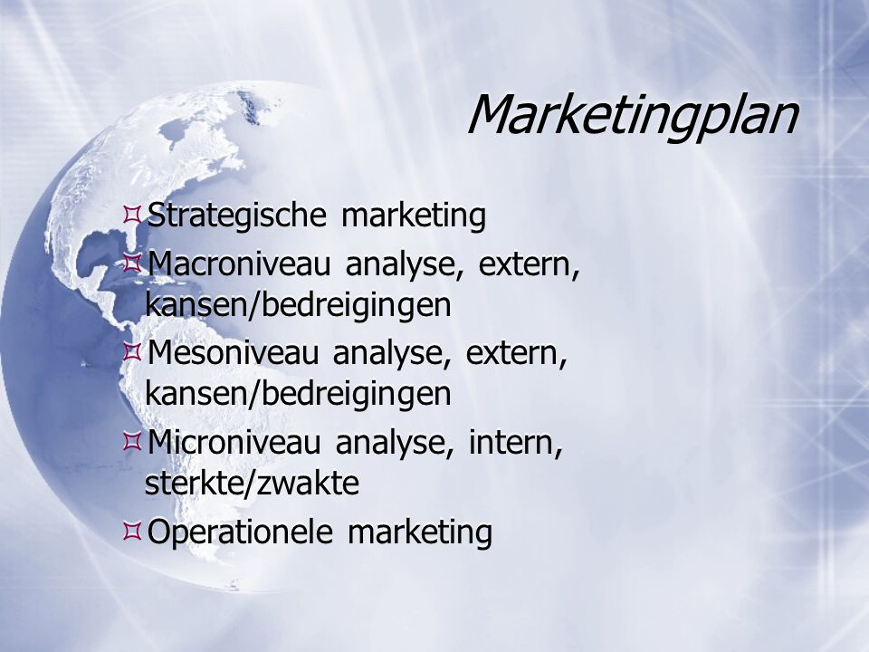 Marketingplan Strategische marketing