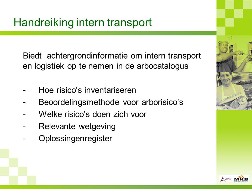 Handreiking intern transport