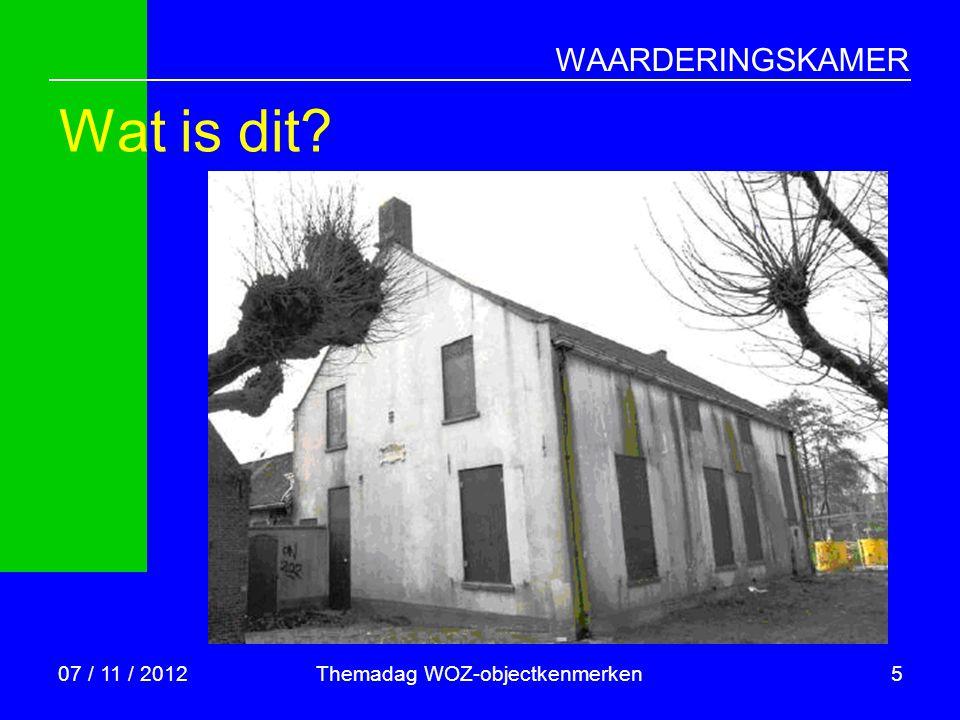 Themadag WOZ-objectkenmerken