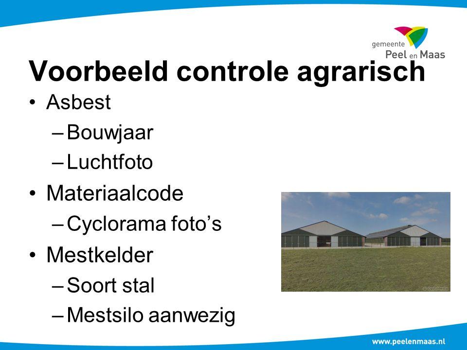 Voorbeeld controle agrarisch