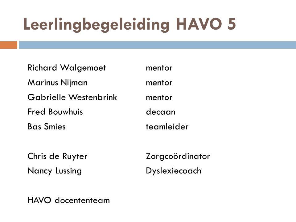 Leerlingbegeleiding HAVO 5