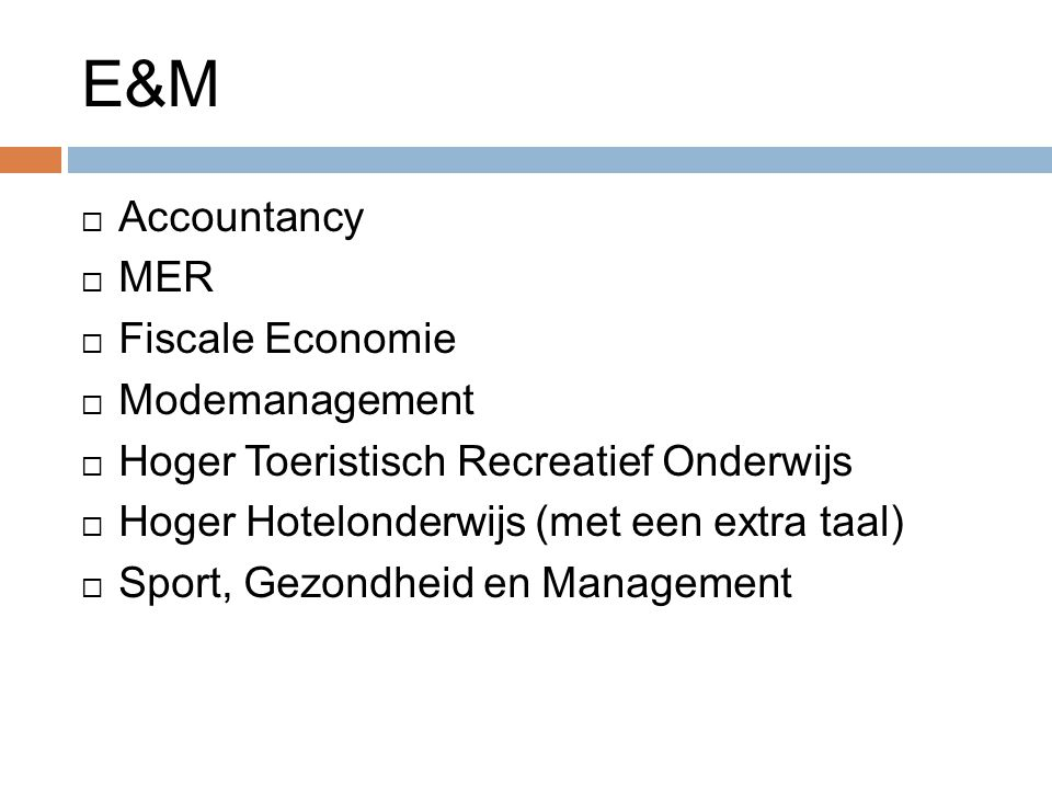 E&M Accountancy MER Fiscale Economie Modemanagement