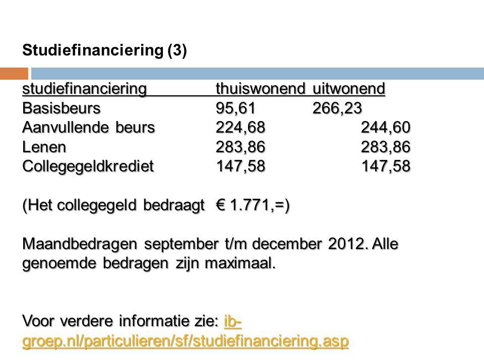 Studiefinanciering (3)