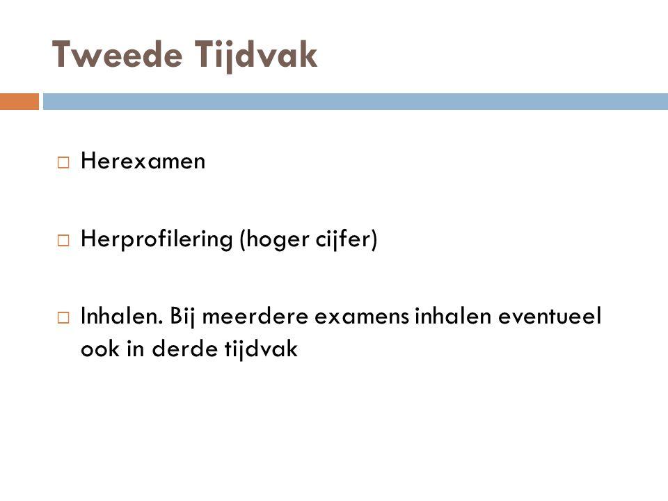 Tweede Tijdvak Herexamen Herprofilering (hoger cijfer)