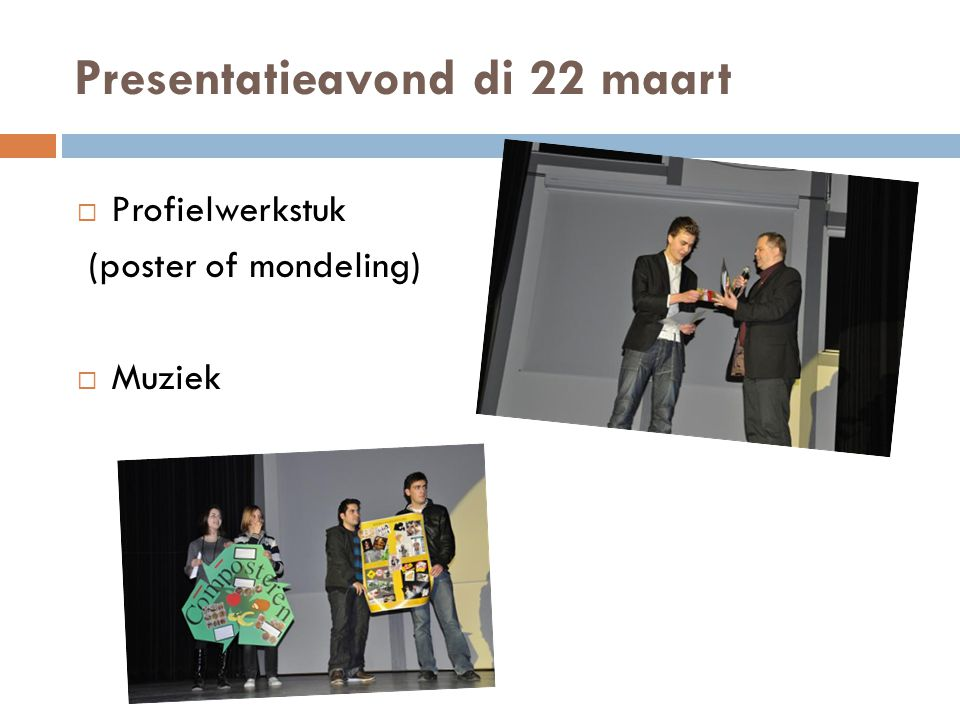 Presentatieavond di 22 maart
