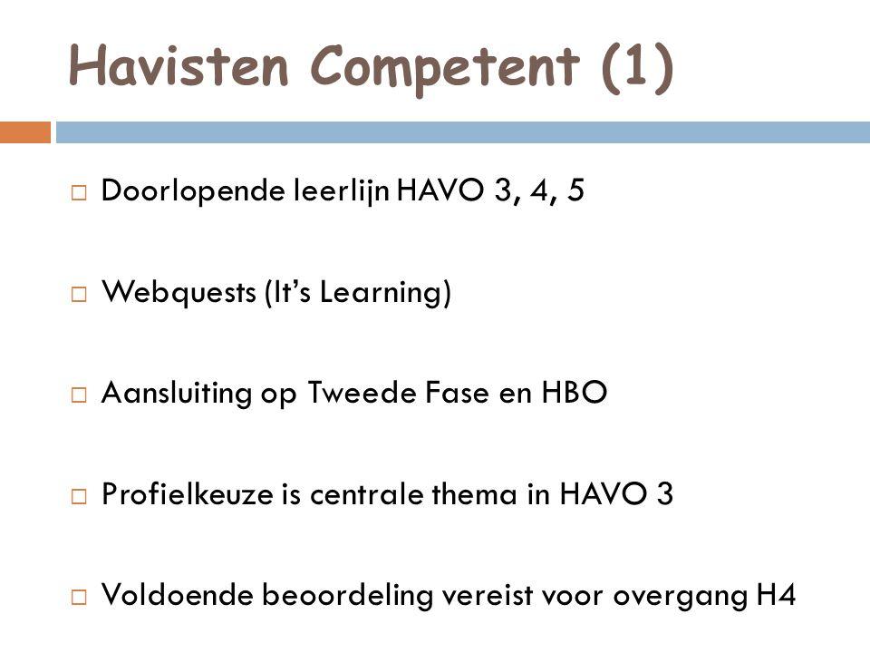 Havisten Competent (1) Doorlopende leerlijn HAVO 3, 4, 5