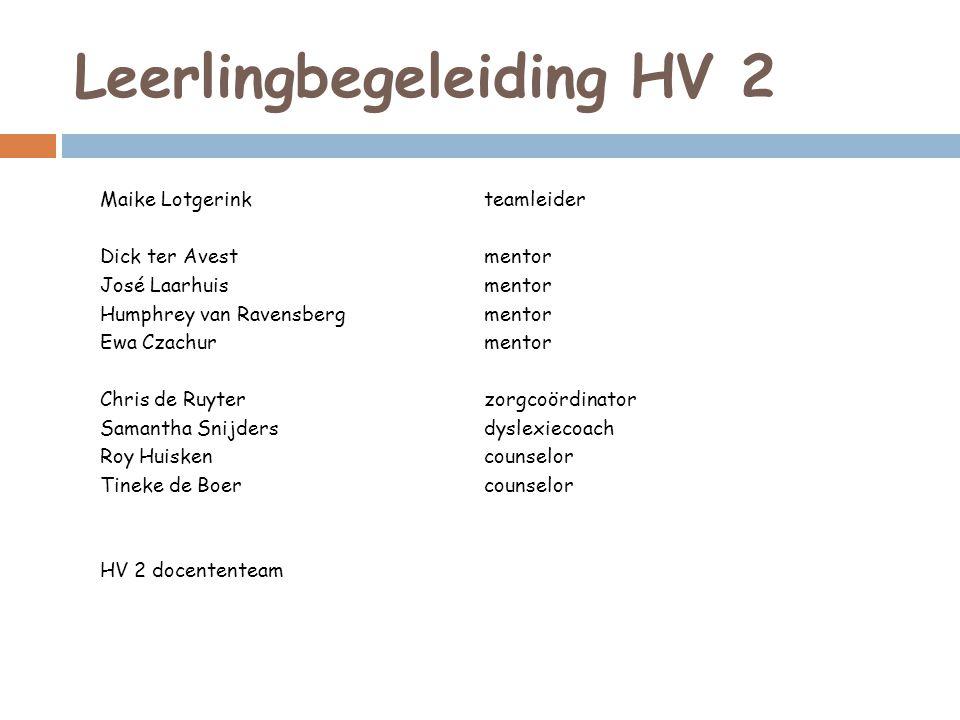 Leerlingbegeleiding HV 2