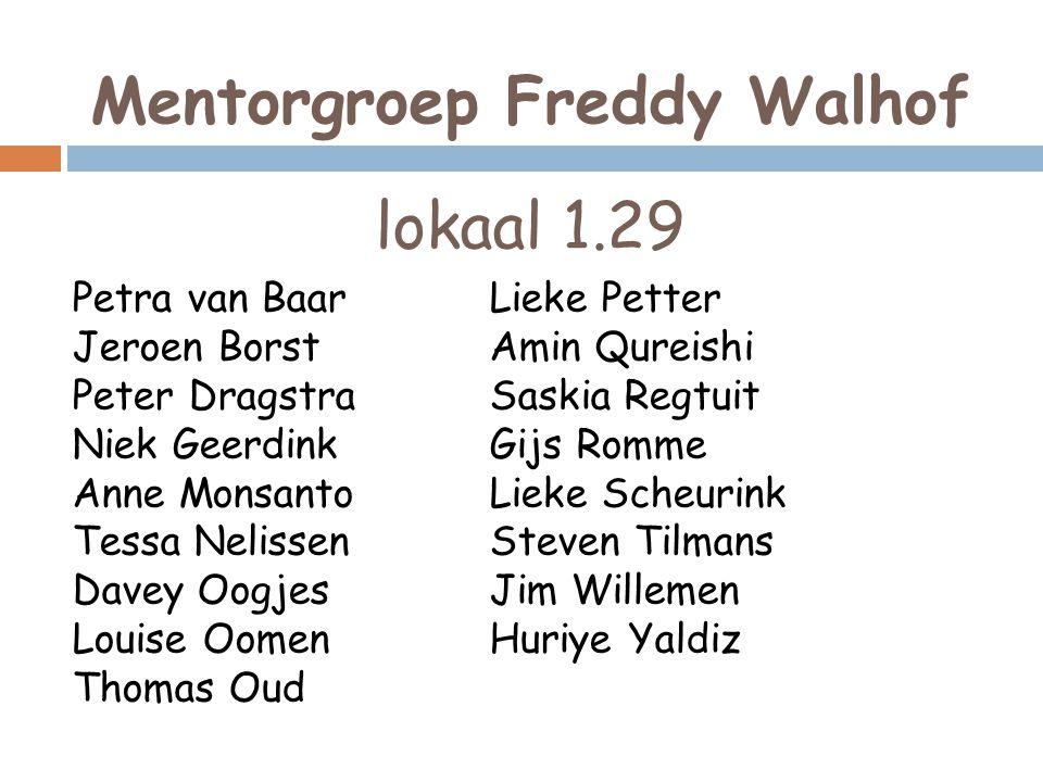 Mentorgroep Freddy Walhof