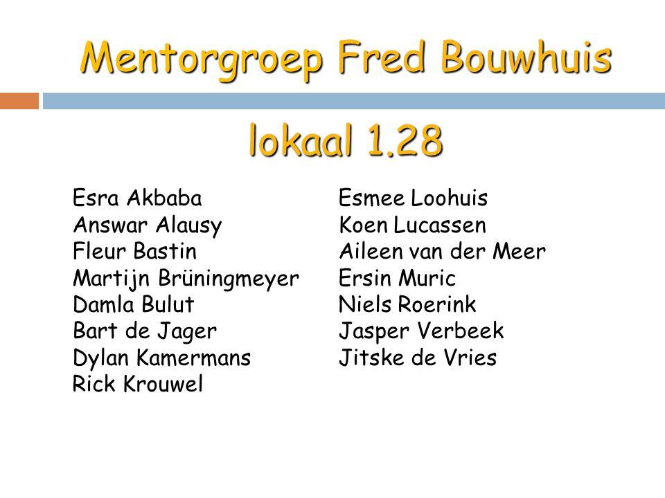 Mentorgroep Fred Bouwhuis