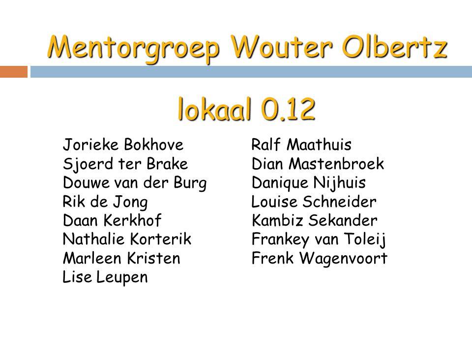 Mentorgroep Wouter Olbertz