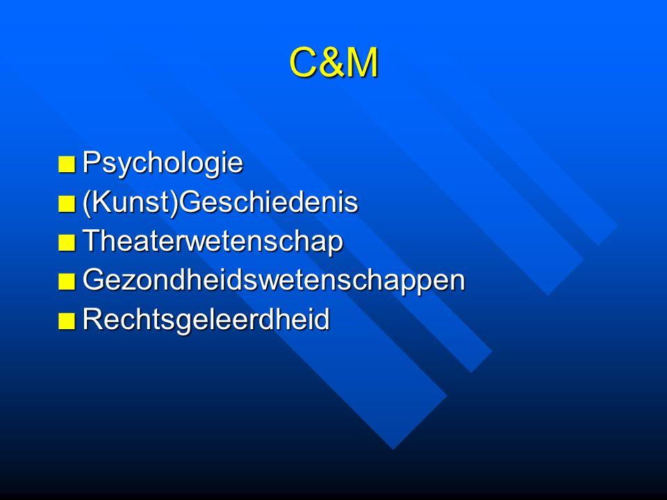 C&M Psychologie (Kunst)Geschiedenis Theaterwetenschap