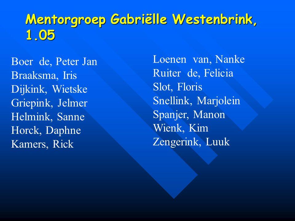 Mentorgroep Gabriëlle Westenbrink, 1.05