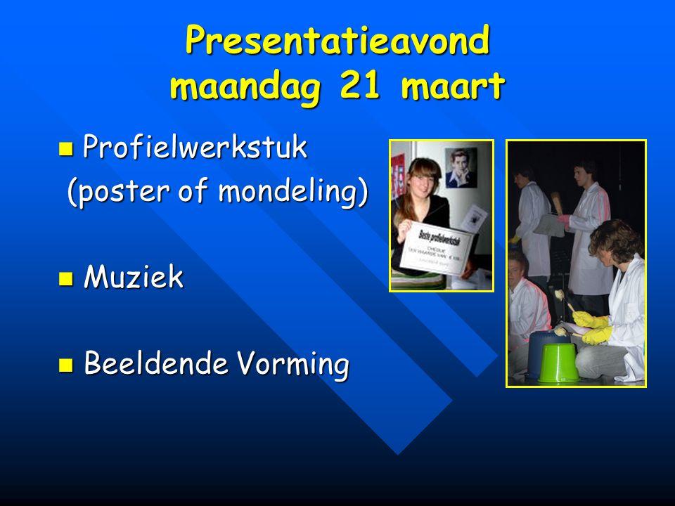 Presentatieavond maandag 21 maart
