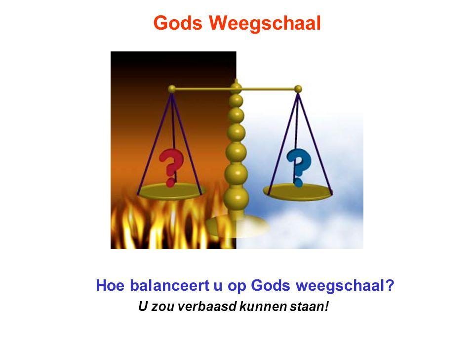 Hoe balanceert u op Gods weegschaal U zou verbaasd kunnen staan!