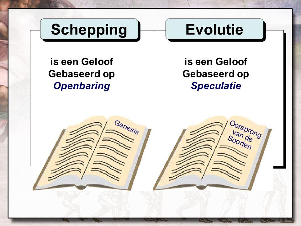 Schepping Evolutie is een Geloof Gebaseerd op Openbaring