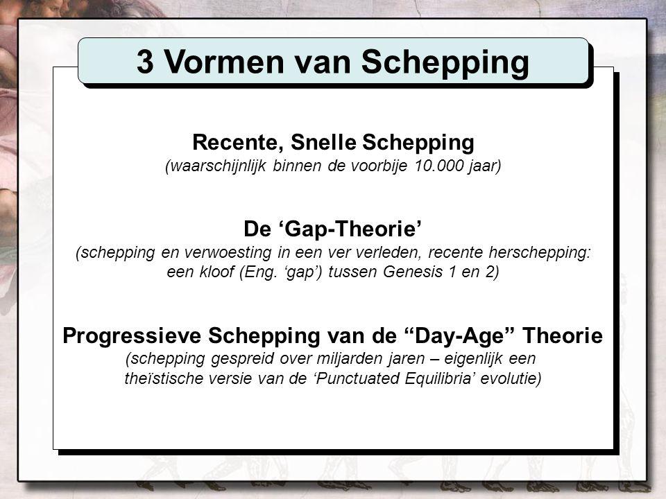een kloof (Eng. 'gap') tussen Genesis 1 en 2)