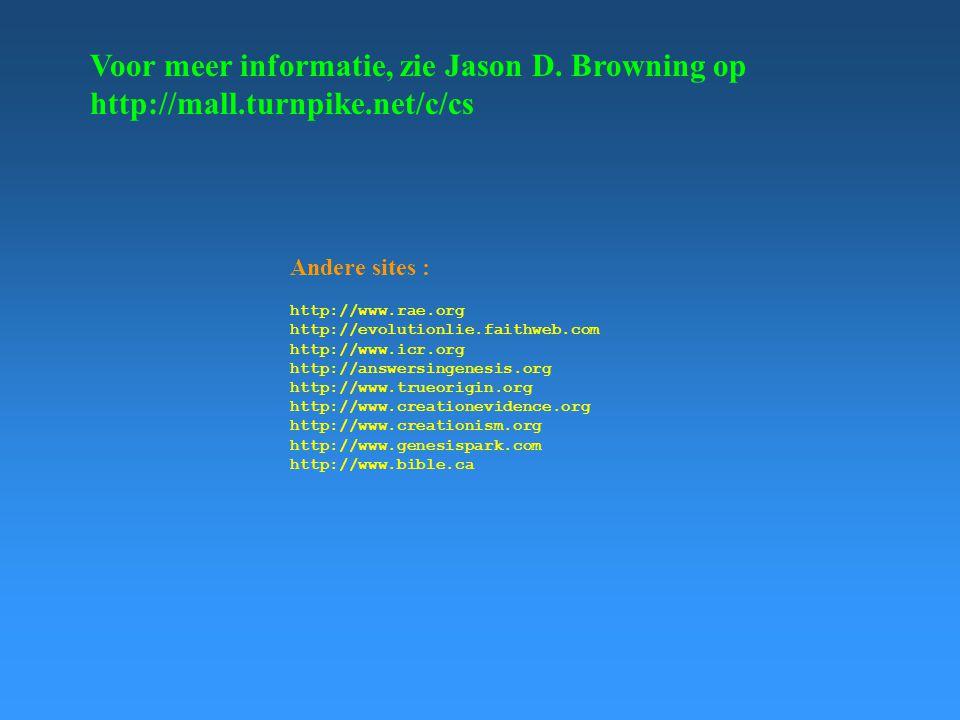 Voor meer informatie, zie Jason D. Browning op