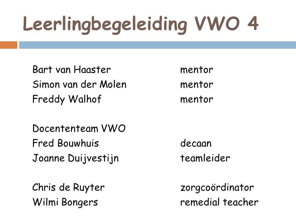 Leerlingbegeleiding VWO 4