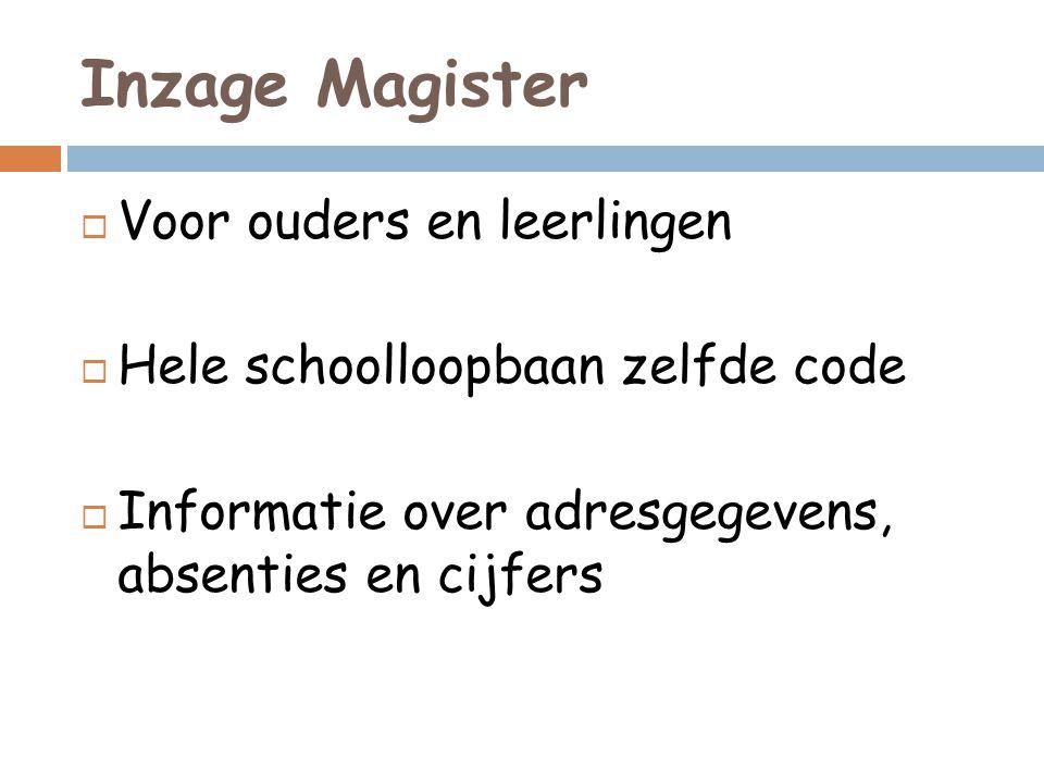 Inzage Magister Voor ouders en leerlingen