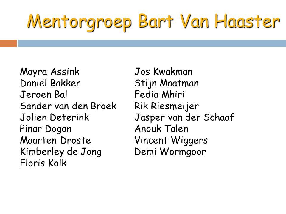 Mentorgroep Bart Van Haaster