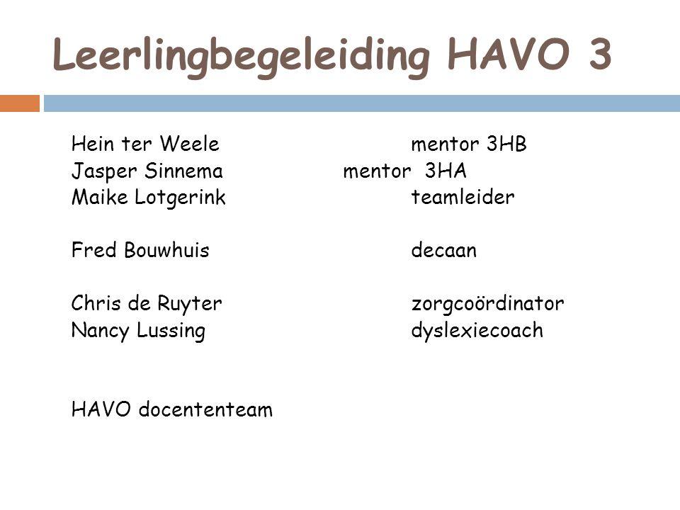 Leerlingbegeleiding HAVO 3