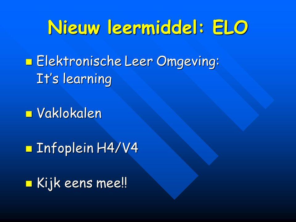 Nieuw leermiddel: ELO Elektronische Leer Omgeving: It's learning