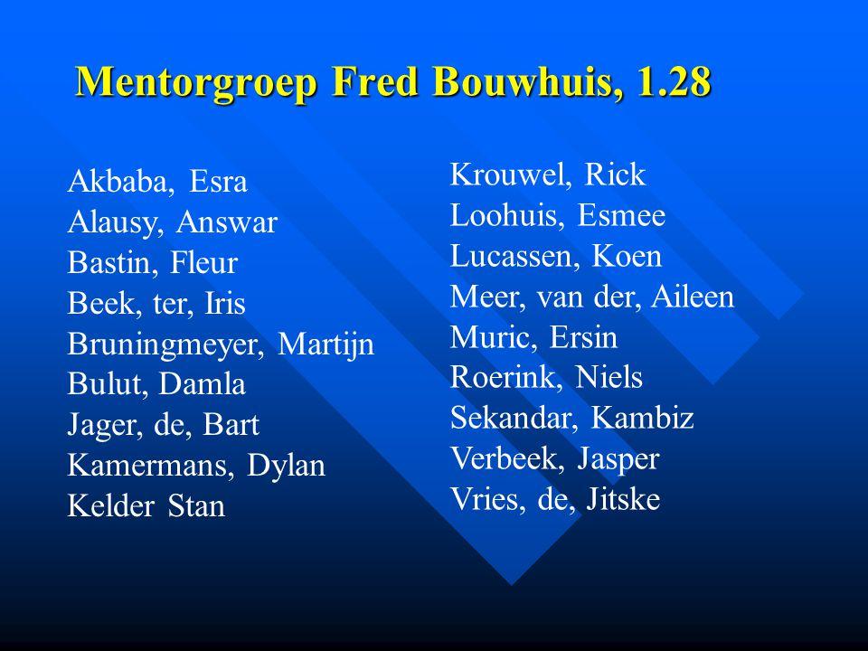 Mentorgroep Fred Bouwhuis, 1.28