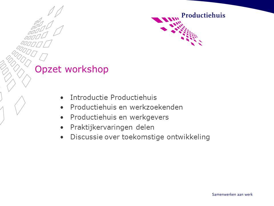 Opzet workshop Introductie Productiehuis