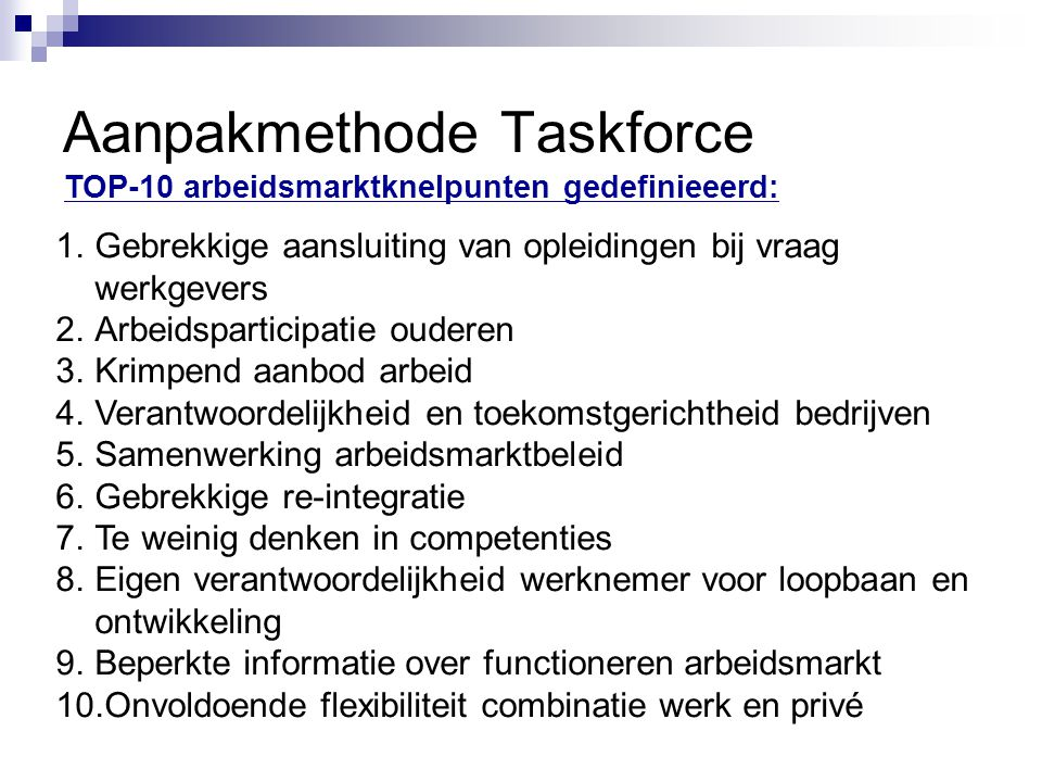 Aanpakmethode Taskforce