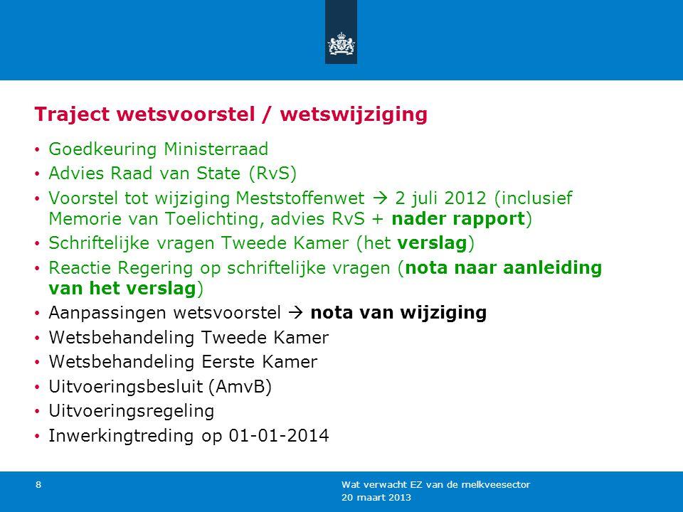 Voornemen verdere behandeling wetsvoorstel (1) (beleidsbrief 18 jan