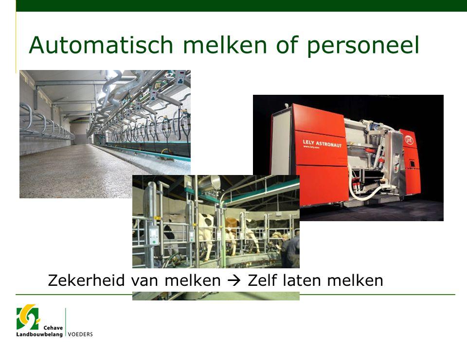 Automatisch melken of personeel