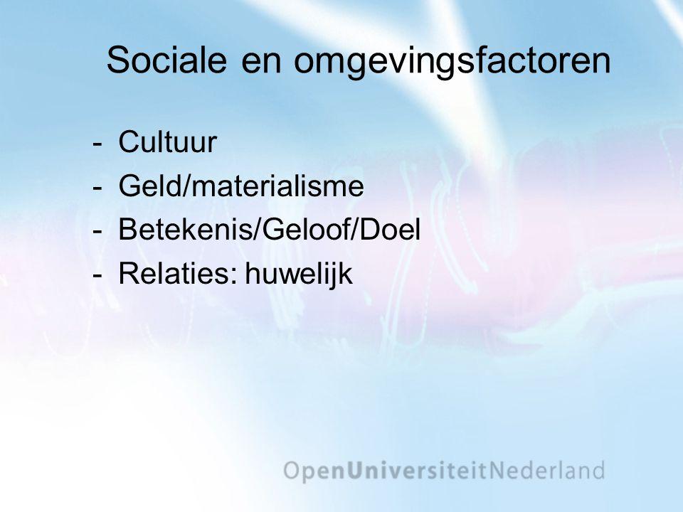 Sociale en omgevingsfactoren