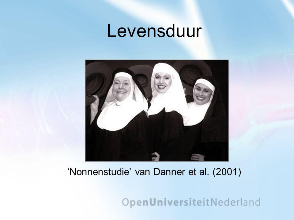 'Nonnenstudie' van Danner et al. (2001)